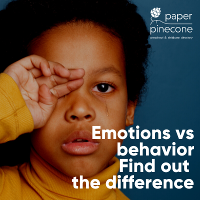 behavior versus emotions