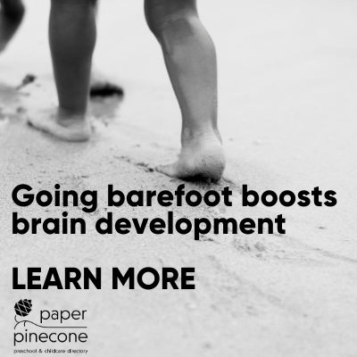 going barefoot benefits brain development