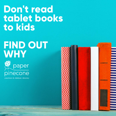 read print books to kids not tablets