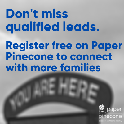 childcare providers list free on paper pinecone