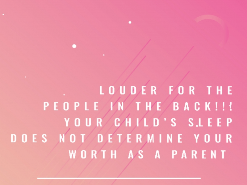 the way your baby sleeps does not define you as a parent