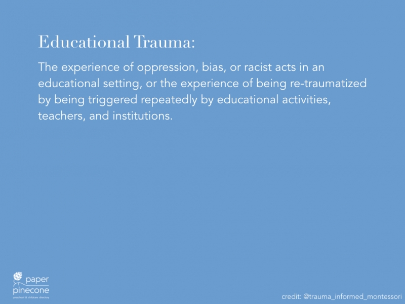 what is educational trauma