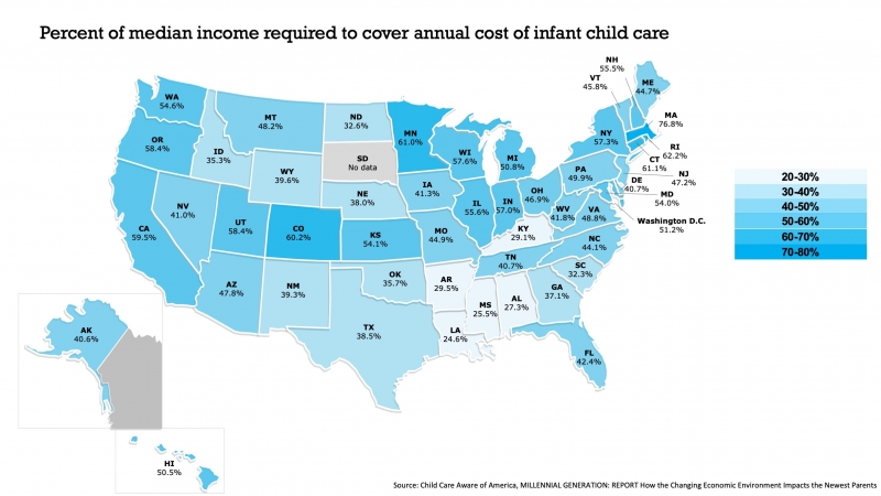 cost of childcare by state